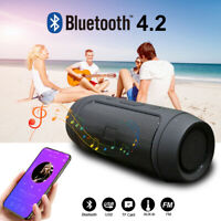 3D Bluetooth Lautsprecher Tragbarer Musik box Stereo Wireless Subwoofer SD AUX
