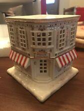 Lenox Mistletoe Park Series Coffee Shop Building/Figurine Lights Up~Nib! Fab!