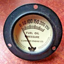 VINTAGE CLASSIC CAR / TRUCK FUEL OIL PRESSURE GAUGE - Cummins Engine company