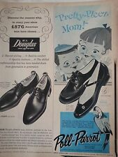 1958 Poll Parrot Pretty Please Childrens SHoes Original Print Ad