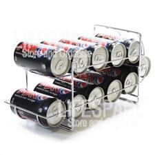 NEW Drink Can Rack Dispenser Holder Chrome for Fridge Kitchen