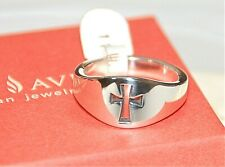 "NEW JAMES AVERY ""WIDE CROSSLET RING'' STERLING SILVER RING - Size 11"