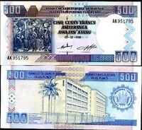 BURUNDI 500 FRANCS 1999 P 38 UNC