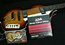 HOFNER VIOLIN BEATLE BASS GUITAR CUSTOM HI-BB-SB LaBella Flats Tea Cup's & CASE