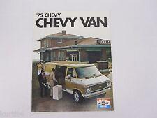 1975 Chevrolet Chevy Van G10 G20 Cutaway Hi-Cube Original Sales Brochure Catalog