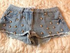 Ladies blue denim shorts.size 8