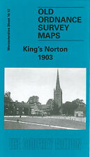 OLD ORDNANCE SURVEY MAP BIRMINGHAM KINGS NORTON 1903