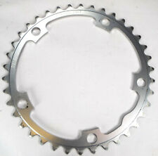 STRONLIGHT 38T 130BCD 9 / 10 SPEED SILVER CNC ALLOY CHAIN RING - ROAD HYBRID ETC