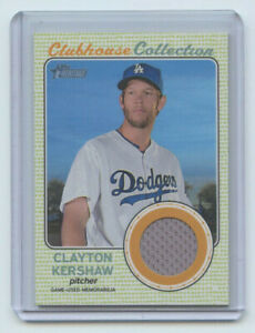 2017 TOPPS HERITAGE CLUBHOUSE COLLECTION RELIC CLAYTON KERSHAW LA DODGERS