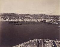 Panorama Da Trieste Italia Vintage Albumina Ca 1875