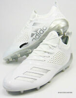 ADIDAS ADIZERO 5-STAR 7.0 LAX LOW LACROSSE CLEATS WHITE SILVER METALLIC AC8226
