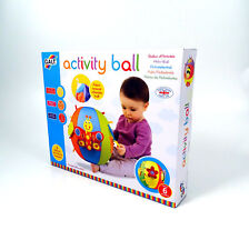 Inflatable Activity Baby Ball Fabric Covered Galt Toys Age 12m+ Texture Crinkle