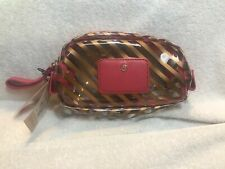 Boulevard Makeup Cosmetic Zipper Pouch Bag Leather Vinyl New With Tags
