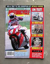 MOTORCYCLE NEWS AMCN Jul-Aug 1994 - DOOHAN HARLEY CBR VIRAGO 250 MORBIDELLI V8