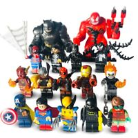 lego minifigures party pieces - fillers for party bags - marvel toys gift ideas
