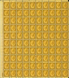 US #713 8c Wash. Bicentennial Sheet Olive Bister MNH F-VF