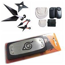 Cosplay Naruto shippuden Headband shuriken Kunai Knives Bag Tools weapons set