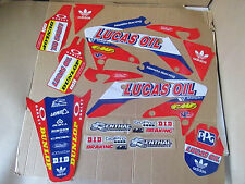 TEAM HONDA LUCAS OIL  GRAPHICS CRF250 2004 2005 2006 2007 2008 09 & CRF250X   FL