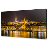 Night view of Budapest canvas print picture wall art home design free delivery