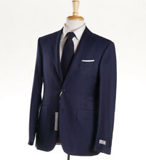 NWT $2195 CANALI 1934 Navy Blue Subtle Woven Check Wool Suit 36 R (Eu 46)