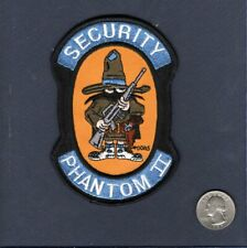 F-4 PHANTOM SECURITY USAF TFS McDonnell Fighter Squadron Jacket Patch