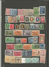 Albania accumulation of different periods stamps on one page