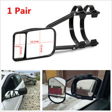 Pair Car Trailer Wing Mirror Extension Rear Side View Mirrors Clip-on Adjustable