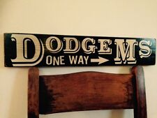 Dodgems Car Dodgem Sign Old Vintage Look Sign Fairground Fair Circus 70s Funfair