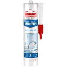 More details for unibond silicone white sealant anti mould waterpro translucent kitchen&bathroom