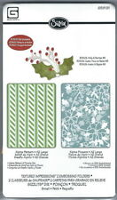 Sizzix Craft Embossing Folder & Die Set of 3 - ALPINE PATTERN & FLOWERS