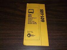 APRIL 1981 CHICAGO RTA ROUTE 601/605 BUS SCHEDULE