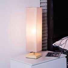 Modern Table Lamp Desk Light Home Office Bedroom w/ Shade & Square Wood Stand