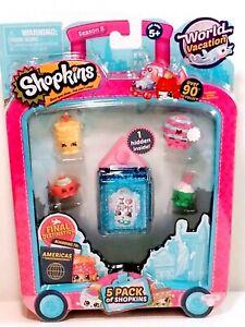 Shopkins Season 8 World Vacation Americas Toy 5 Pack