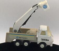 TONKA BELL TELEPHONE SYSTEM Lineman Camion Gru Secchio Cestino Metallo Plastica