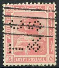 """Egypt 1921-2 SG#90, 5m Pink, """"TC&S"""" Used #D90684"""