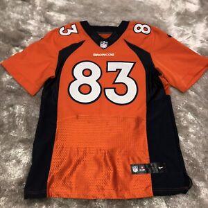 NIKE On Field NFL Denver Broncos Football #83 Wes WELKER Sewn Stitched Jersey 44