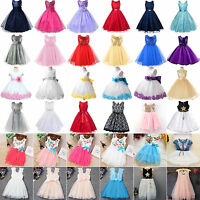 Floral Print Girl Dress Princess Kids Baby Pageant Party Wedding Tutu Dress Gown
