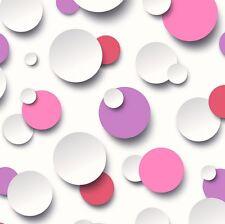 Modern Circles Wallpaper 63406 Pink/Lilac