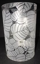 """Yankee Candle FROSTED LEAVES Double Tea Light Holder 5.75"""" NWT"""