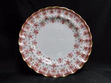 "Spode Fleur de Lys Red, Y.7481, Gold Trim, Bone: Bread Plate (s), 6 3/8"""