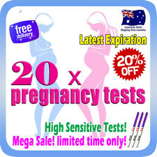 20x Early Pregnancy Tests High Sensitive hCG Urine Strips Latest Expiration