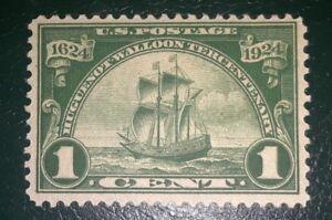 """TRAVELSTAMPS:1924 US Stamps Scott #614 SHIP """"New Netherlands """" ,mint, og, hinged"""