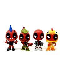 4 Funko Mystery Minis Deadpool Lot Punk Rocker Robin Hood Boxer Chicken Suit