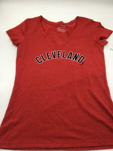 Cleveland Indians Ladies T-shirt Lindor/Small/Red/#12/V-Neck/Majestic Threads
