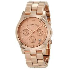 NEW MARC BY MARC JACOBS HENRY ROSE GOLD STAINLESS STEEL,CHRONO WATCH-MBM3107