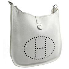 Authentic HERMES EVELYNE GM Shoulder Bag White Dalmatien Vintage France V23787