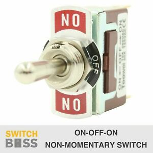 ON-OFF-ON Toggle Switch Heavy Duty 3 Way 12V 2 6.3mm Terminal Car Marine Light