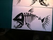 Skeleton Fish Large Vinyl Decal for Boat Fishing graphics sticker window