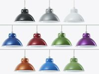 Retro Domed Metal Ceiling Pendant Light Shade Lampshade Easy Fit Vintage Cafe