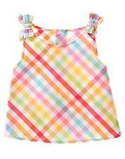 NWT Gymboree Girls Summer Safari Multi Color Checks Top Size 18-24